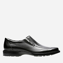 Capi Black Leather mens-wide-width