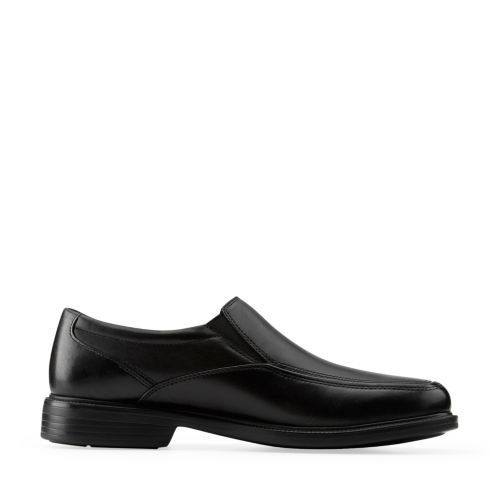 Mendon Black Leather mens-wide-width