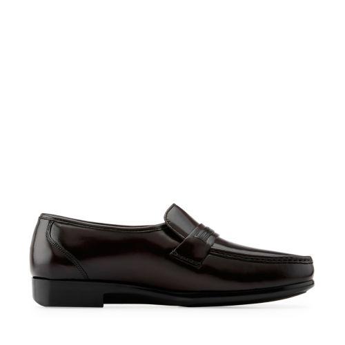Clarks Mens Prescott In Burgundy Leather, 15 D