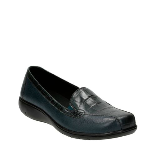 Bayou Q Navy Leather womens-flats