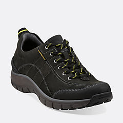Wave.Trek Black Leather w/ Yellow Detail womens-narrow-width