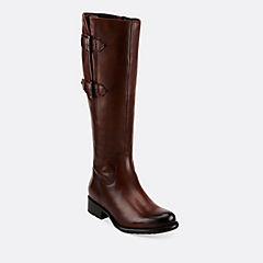 Mullin Spice Tan Leather womens-knee-boots