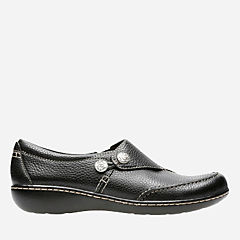 Ashland Lane Q Black Tumbled Leather womens-comfort-shoes