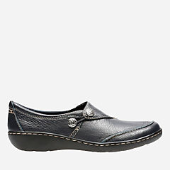 Ashland Lane Q Navy Tumbled Leather womens-comfort-shoes