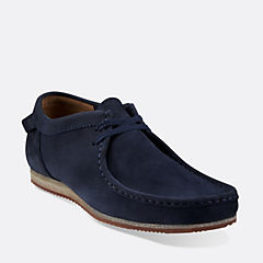 WALLABEE RUN Navy Nubuck