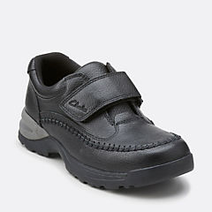 Caribou Time Toddler Black Leather boys-walking