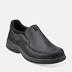 Portland2 Easy Black Leather mens-narrow-width