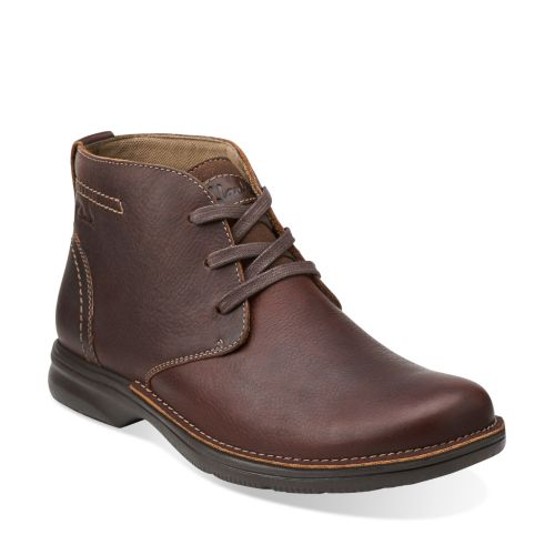 Senner Ave Brown Tumbled Leather mens-wide-width