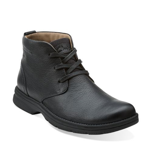 Senner Ave Black Tumbled Leather mens-wide-width