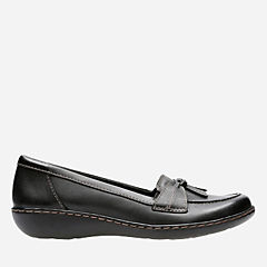 Ashland Bubble Black Leather womens-flats