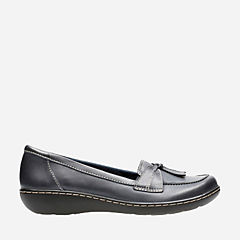 Ashland Bubble Navy Leather womens-flats