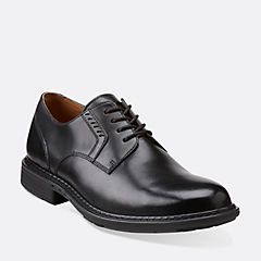 Un.Walk Black Leather mens-wide-width
