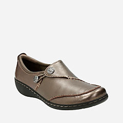 Ashland Lane Q Pewter Leather womens-comfort-shoes