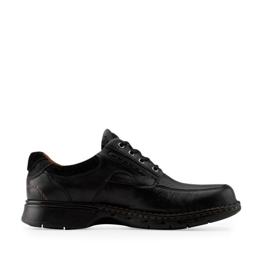 Un.Bend Black Leather mens-wide-width