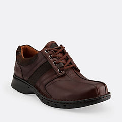 Un.Coil Brown Leather mens-wide-width
