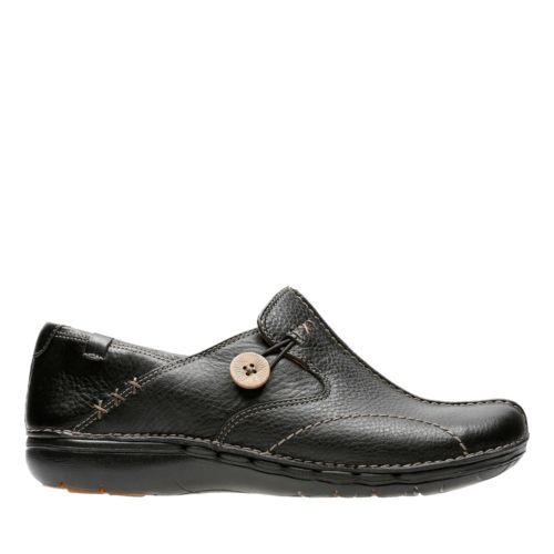 Un Loop Black Women S Wide Width Shoes Clarks 174 Shoes