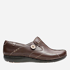Un.Loop Brown Leather womens-wide-width