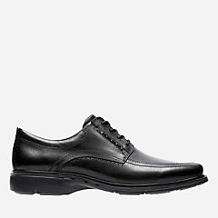 Un.Kenneth Black Leather mens-wide-width