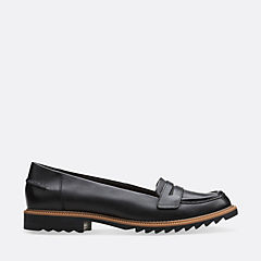 Griffin Milly Black Leather womens-flats