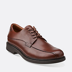 Drexlar Way Dark Tan Leather mens-ortholite