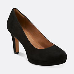 Delsie Bliss Black Suede womens-view-all