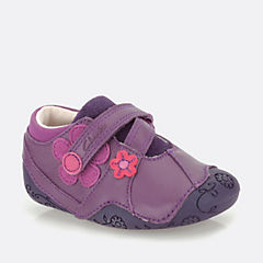 Dizi Dots Purple Leather