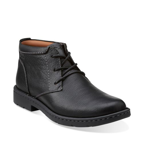 Stratton Limit Black Leather mens-boots