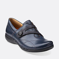 Un Esma Navy Leather