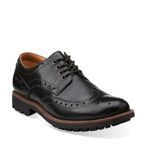 Montacute Wing Black Leather mens-view-all