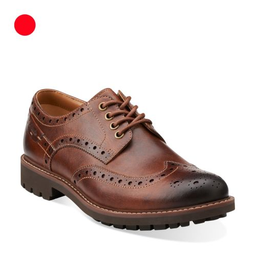 Montacute Wing Dark Tan Leather mens-view-all