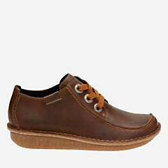 Funny Dream Brown Leather womens-casual-shoes