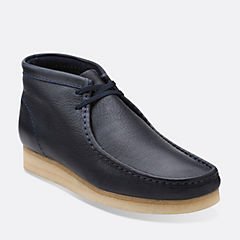 Wallabee Boot Navy Leather