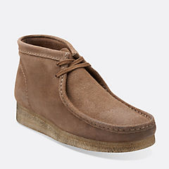 Wallabee Boot Taupe Distressed