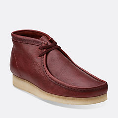 Wallabee Boot Burgundy Leather
