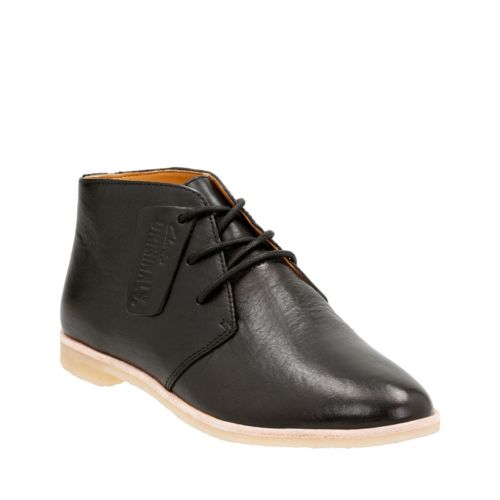 Phenia Desert Black Leather originals-womens