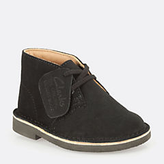 Boys Desert Boot First Black Suede originals-boys-boots