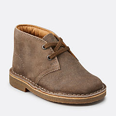 Boys Desert Boot First Taupe Distressed Suede originals-boys-boots