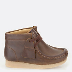Boys Wallabee Boot First Brown Oily originals-boys-boots