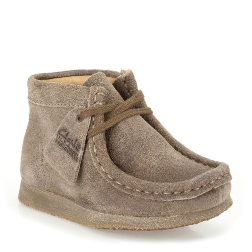 Boys Wallabee Boot First Taupe Distressed originals-boys-boots