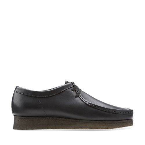 Wallabee Black Leather originals-mens-shoes