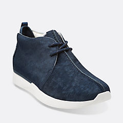 Traxter Gray Navy Leather