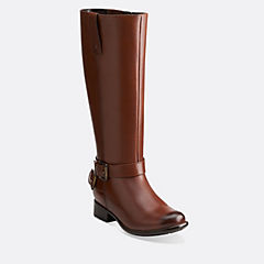 Plaza Steer Brown Leather sale-womens-boots