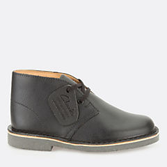Boys Desert Boot Toddler Black Smooth Leather kids-school-shoes