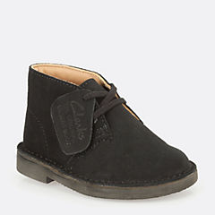 Boys Desert Boot Youth Black/Blk Suede boys-junior