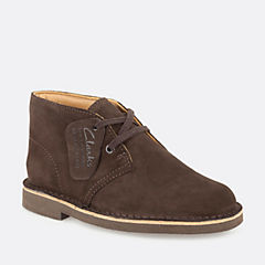 Boys Desert Boot Youth Dark Brown Suede boys-junior