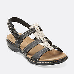 Leisa Daisy Black Leather