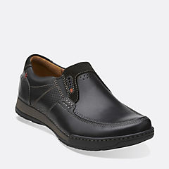 Fenway Step Black Leather