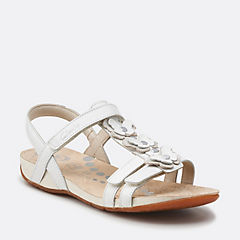 Rio Dance Jnr White Leather