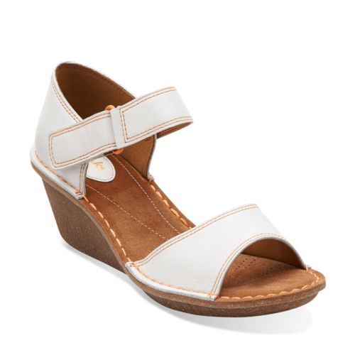 Orient Sea White Leather womens-sandals-wedge