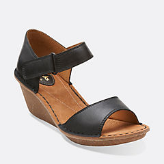 Orient Sea Black Leather womens-sandals